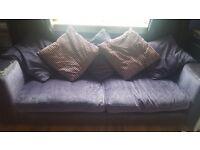 Purple velvet sofa****