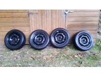Winter tyres and steel wheels from VW Polo 2004