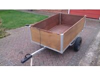 trailer 5ft X 3.5 ft, with new lighting bar