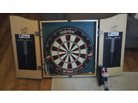 Dart board with Cabinet and accessories