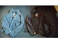 2 superdry mens coats