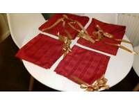 Hand made Christmas table runner and napkins