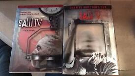Saw 4&5 unrated, directors cut, NEW