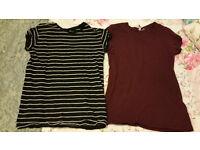 2x H&M T-Shirts - Womens Size 38 (UK12)