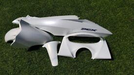 2011 Honda PCX fairings as seen.