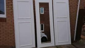 3 x Sliding wardrobe doors and runners