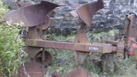 For sale 2 furrow tractor plough
