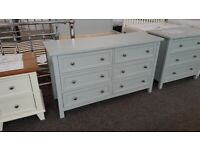 Maine Dove Grey 6 Drawer Wide Chest by Julian Bowen Can Deliver