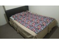 BRAND NEW LEATHER BED FRAME WITH MATTRES