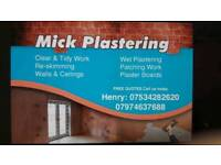 Mick the plasterer