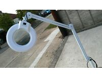 Magnifier Ring Light on casters. VGC.