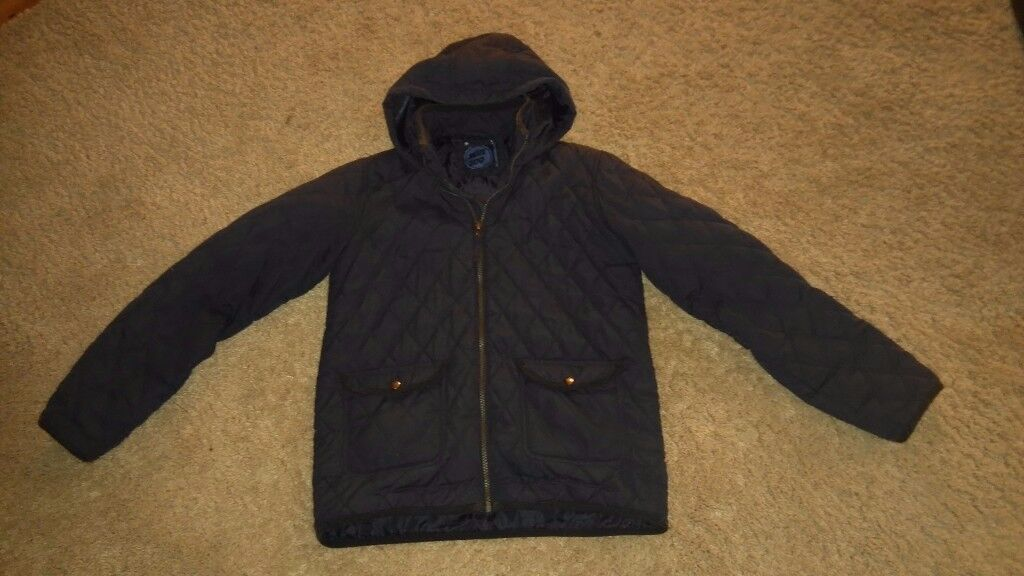 Boys Bluezoo quilted coat with hood aged 12-13 years