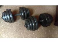 Dumbbells 30Kg (2x 15Kg) Adjustable