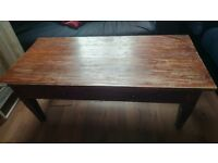 FREE solid wood coffee table