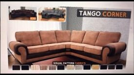 BRAND NEW crushed velvet corner/ 3 & 2 FAUX LEATHER & FABRIC CORNER SOFA , NOW AVAILABLE
