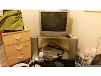 TV WITH STAND (OLD BACK TV) £15