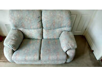 Three Piece Suite With Reclining Chair