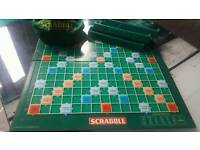 Original scrabble board game with all pieces