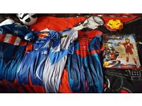 Selection of superhero dress up age 5-6