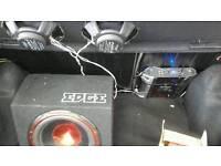 Amplifier+subwoofer+2speakers+wire