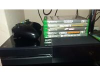 XBOX ONE ONLY FEW MONTHS OLD 5 GAMES AND BOXED