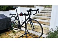 B'Twin Triban 5 Large Road Bike with Pannier Rack and Bags