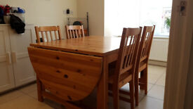 Dining table and chairs set - GOOD CONDITION. REDUCED TO CLEAR