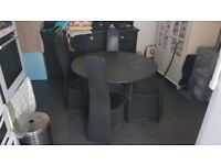 Retro G-Plan Black Wooden Table and Chairs