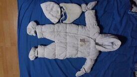 White children's winter suit