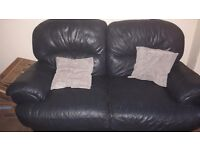 Free navy leather m&s sofa and chair