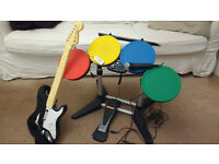 Rock Band Guitar, Drums and Microphone PS3 (No Game)