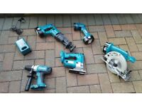 Makita 5pcs power tool set 18v