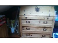 """SOLID WOOD DESK AND DRAWERS BUREAU, W-41"""" H-40"""" D-21"""" ,NO OFFERS PLEASE, GREAT CONDITION"""