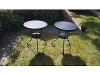 Metal Round Garden Patio Balcony Bistro Tables