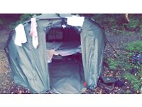 Great fishing shelter waterproof good size and a bed chair witch is good for camping