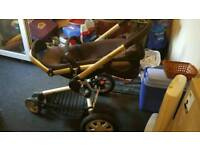 Quinny buzz pushchair with adaptors and seat