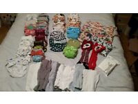 HUGE Bundle of Cloth Nappies, tights & wetbags - Used