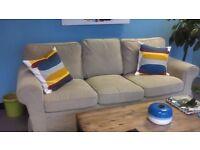 IKEA three seater sofa - Nearly new and hardly used