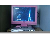 "Pink 19"" TV and DVD Player"