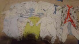 Large bundle of baby grows
