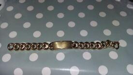 Mans identity bracelet