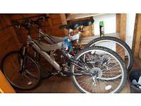 Two full suspension Mountain bikes