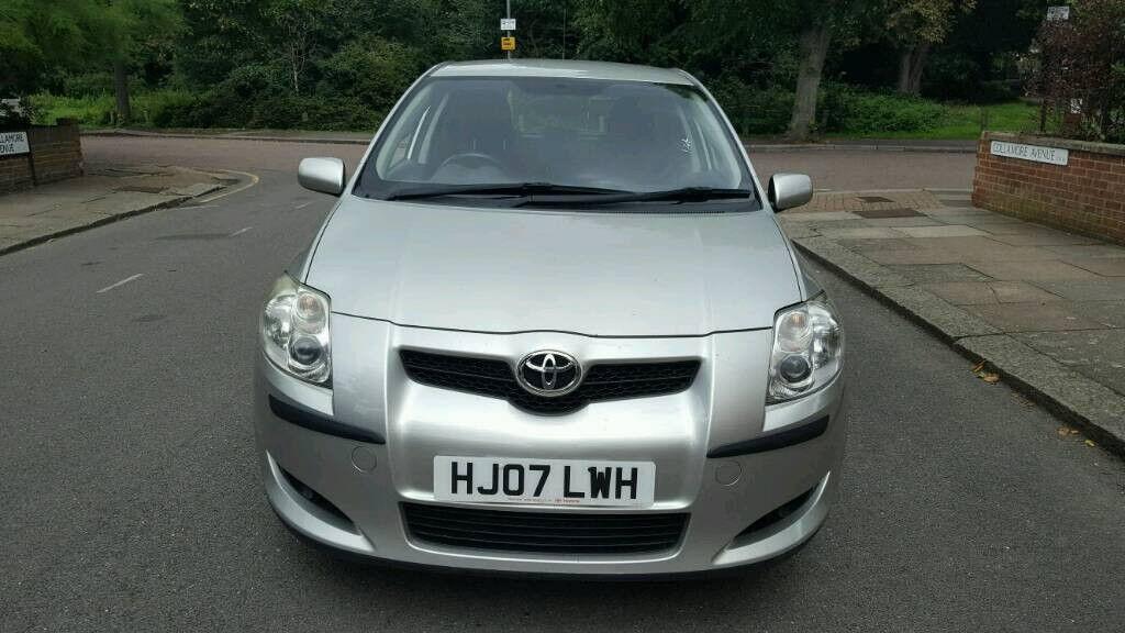 2007 Toyota Auris 1.6 silver 5dr hatchback manual petrol MOT June 2018 full service history