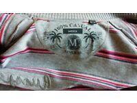 Mexx Zip Cardigan Sweat Jumper Grey Pink Purple