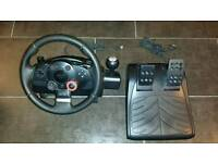 Logitech GT DriveForce Steering Wheel for PC,PS3