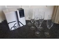 Habitat Joy 6 x Champagne Prosecco Flutes Glasses. 18.5cl. Ideal House or Wedding Gift. NEW BOXED.