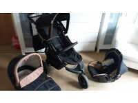 3 in 1 travel system pram & stoller