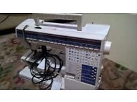 Husqvarna #1+ Embroidery sewing machine lots of extras, cards Computer and screen