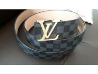 Louis vuiltton men belt intiales 50/125