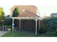 Wooden Garden pergola 4m x 2m